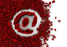 Email concept. Symbol shaped hole formed by thousands of smaller ones, easy to colorize Stock Photo