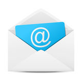 Email concept. Envelope with paper sheet - concept of email royalty free illustration