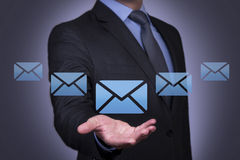 Email Concept on Business Hand Royalty Free Stock Photo