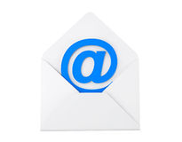 Email Concept. E-mail sign in envelope Royalty Free Stock Photography