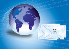 Email concept with globe stock photography