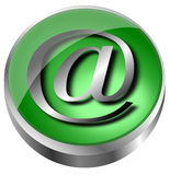 EMail concept over white background Royalty Free Stock Photography