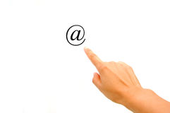 Email contact Royalty Free Stock Photos