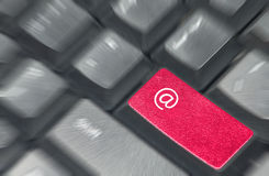 Email contact keyboard Royalty Free Stock Photography