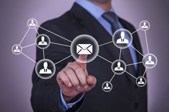 Email and contact symbols Stock Image