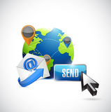 Email contact us communication and send button. Royalty Free Stock Image