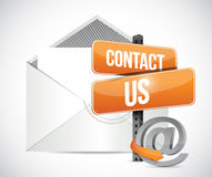 email contact us sign illustration Royalty Free Stock Photo