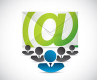 email correspondence business team Stock Photo