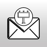 Email correspondence concept graphic icon Stock Images
