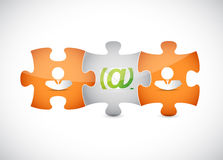 Email correspondence puzzle pieces Stock Photos