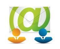 Email correspondence teamwork Stock Image