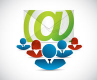 Email correspondence teamwork Stock Images