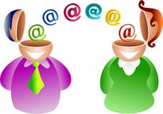Email couple Royalty Free Stock Photos