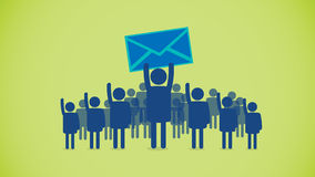 Email crowd Stock Photography