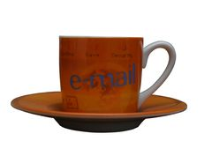 EMail-Cup Stockfoto