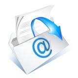email czytający Zdjęcia Royalty Free
