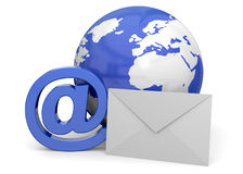 Email - 3D Photos stock