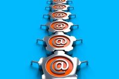 Email d'acciaio Fotografia Stock