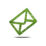 Email d'herbe de symbole Photographie stock libre de droits