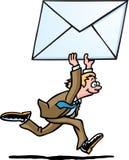 Email d'homme d'affaires Illustration de Vecteur