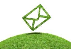 Email da grama do símbolo Fotografia de Stock