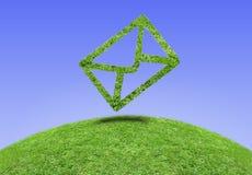 Email da grama do símbolo Foto de Stock