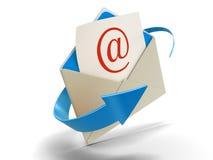 Email da letra (trajeto de grampeamento incluído) Fotos de Stock Royalty Free