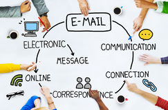 Email Data Content Internet Communication Messaging Concept.  stock photography