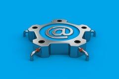 Email de acero Imagenes de archivo