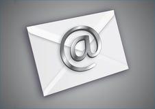 Email de chrome Images libres de droits