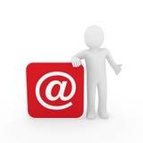 email de l'homme 3d Image libre de droits