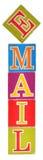 Email de la palabra formado por los bloques del alfabeto Foto de archivo libre de regalías