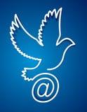 Email de la paloma, paloma del poste del Internet Fotos de archivo libres de regalías