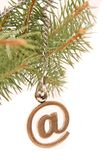 Email de Noël Images libres de droits