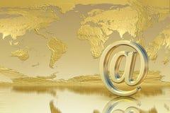 Email de oro Fotografía de archivo libre de regalías