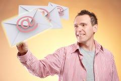 Email de vol Images libres de droits