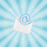 Email de vol Image stock