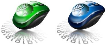 Email del globo del ratón Foto de archivo
