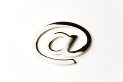Email del metal alias Imagen de archivo libre de regalías