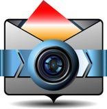 Email del video dell'icona Fotografia Stock