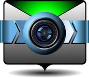Email del video dell'icona Fotografie Stock Libere da Diritti