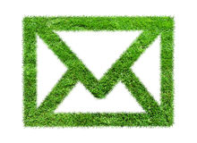 Email dell'erba di simbolo Immagine Stock