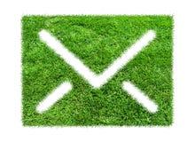 Email dell'erba di simbolo Fotografia Stock Libera da Diritti