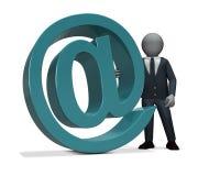 Email dell'uomo d'affari Immagine Stock