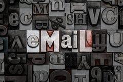 Email dello scritto tipografico Fotografie Stock Libere da Diritti