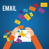 Email design Royalty Free Stock Photos