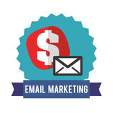 Email design Royalty Free Stock Image