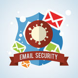 Email design. envelope icon.  illustration , vector Stock Photos