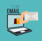 Email design Royalty Free Stock Photo