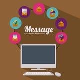 Email design. Over white background, vector illustration stock illustration